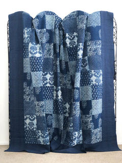 Blockprint Patchwork Kantha Quilt 3
