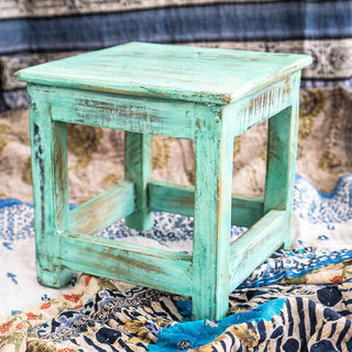 Small Work Stool Green