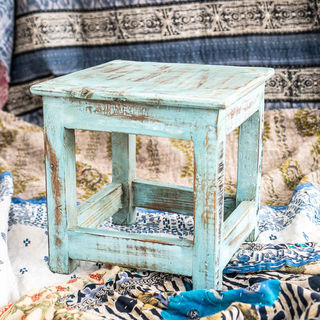 Small  Work Stool Blue