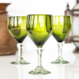 Olive Wine Glass