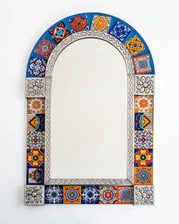 Medium Córdoba Tin Mirror Blue