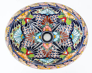 Medium Talavera Hand Basin 5