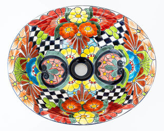 Medium Talavera Hand Basin 7
