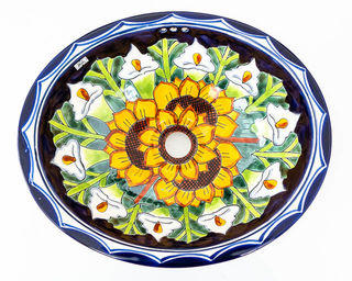 Medium Talavera Hand Basin 10