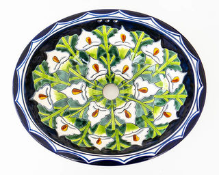 Medium Talavera Hand Basin 15