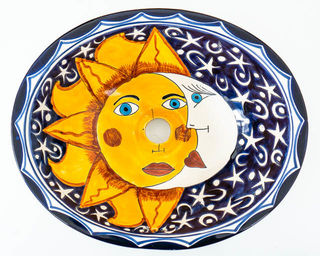 Medium Talavera Hand Basin 16