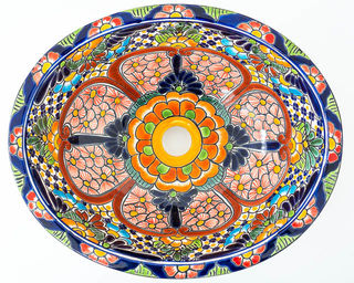 Medium Talavera Hand Basin 17