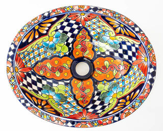 Medium Talavera Hand Basin 19