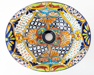 Medium Talavera Hand Basin 22