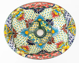 Medium Talavera Hand Basin 27