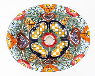 Medium Talavera Hand Basin 28