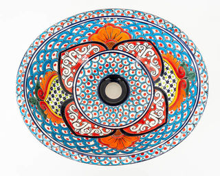 Medium Talavera Hand Basin 30