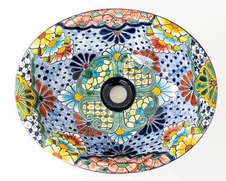 Medium Talavera Hand Basin 31
