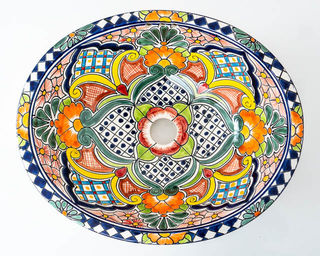 Medium Talavera Hand Basin 32
