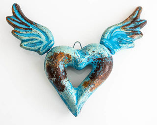 Boho Sacred Heart Blue