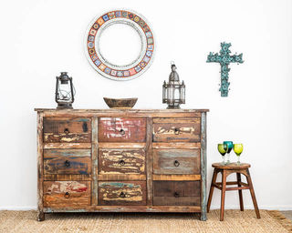 Boho Rustic 9 Drawers B