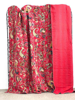 Bohemian Kantha Quilt Red