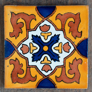 Granada Tile Dark Blue Cross