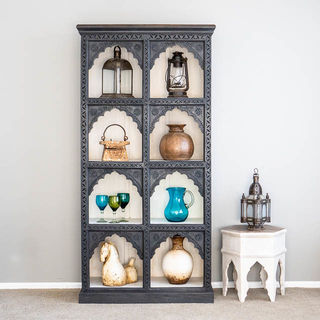 Shanti Display Cabinet Charcoal