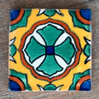 Cruz Puebla Quarter Tile 50mm x 50mm
