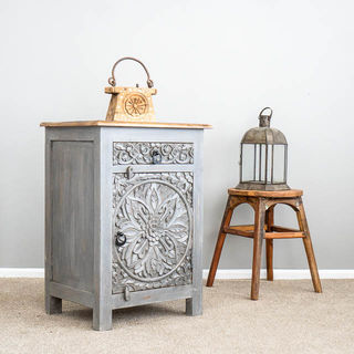Goa Bedside Table Grey
