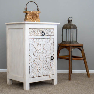 Mahika Bedside Table White