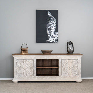 Aura TV Cabinet or Sideboard White