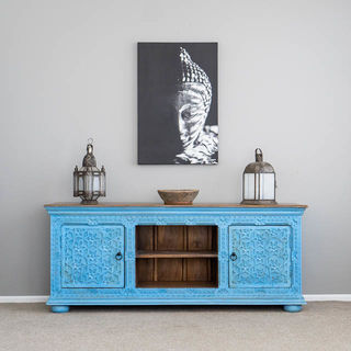 Aabha TV Cabinet or Sideboard Blue