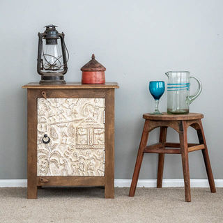 Tribal Bedside Table
