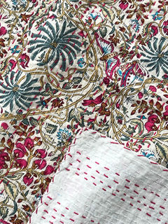 Wild Things Kantha Quilt