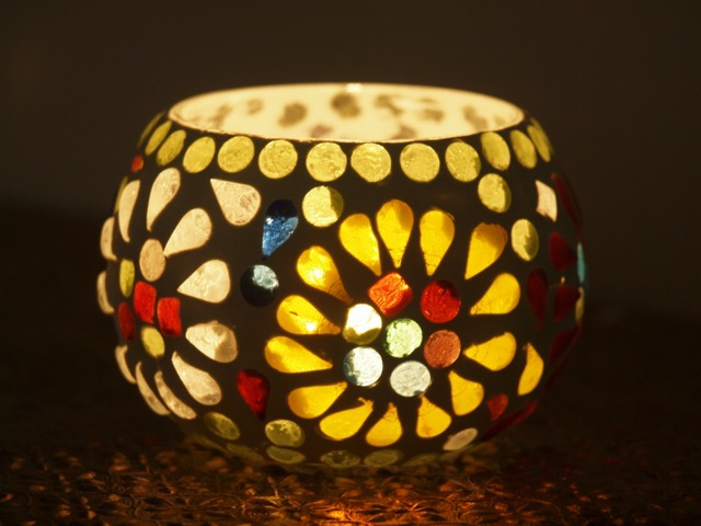 Mosaic Tea Candle Holder