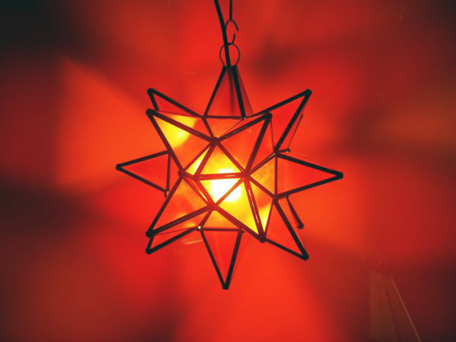 Mexican Red Star Lantern: Small