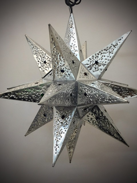 Large Mexican Tin Star Lantern Furniture Lighting Decor