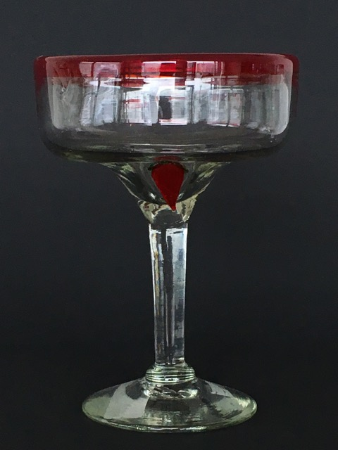 Red Chilli Cocktail Glass