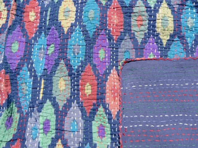 Midnight Mirage Kantha Quilt
