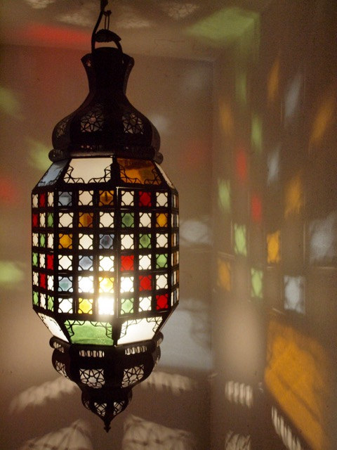 Medina Lantern: large, mixed colour