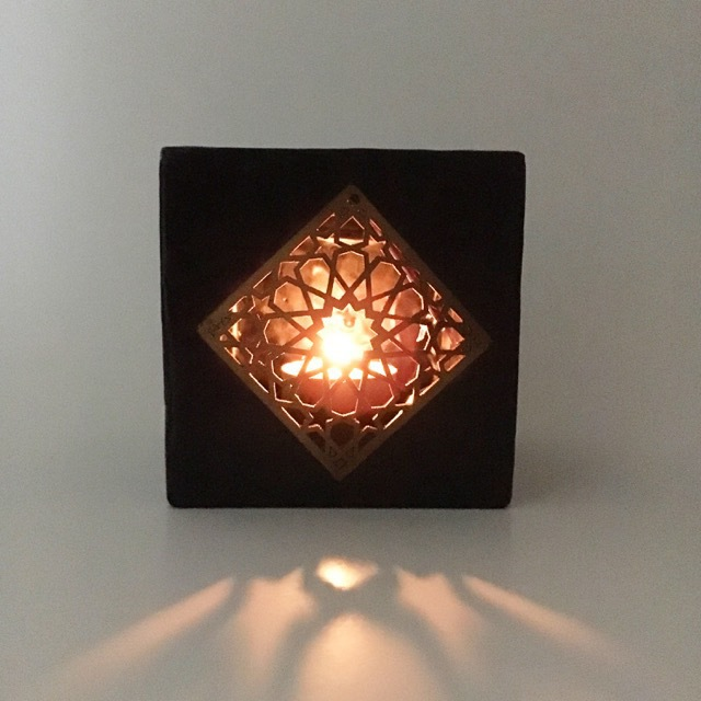 Wax Tea Candle Holder: Midnight