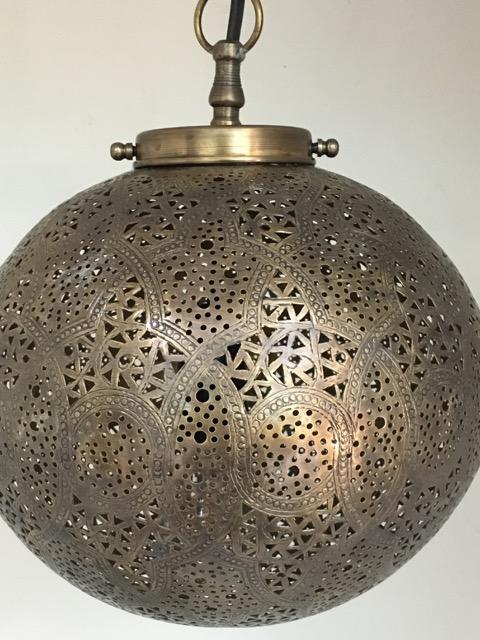 Sultans Ball Lantern Brass Furniture Lighting Decor