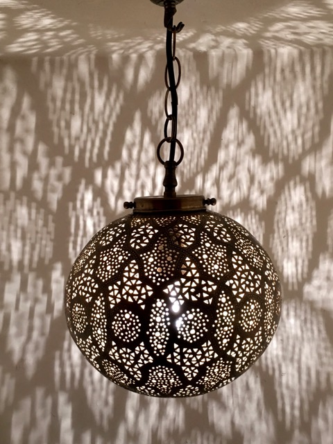 Sultans Ball Lantern Brass Furniture Lighting Decor