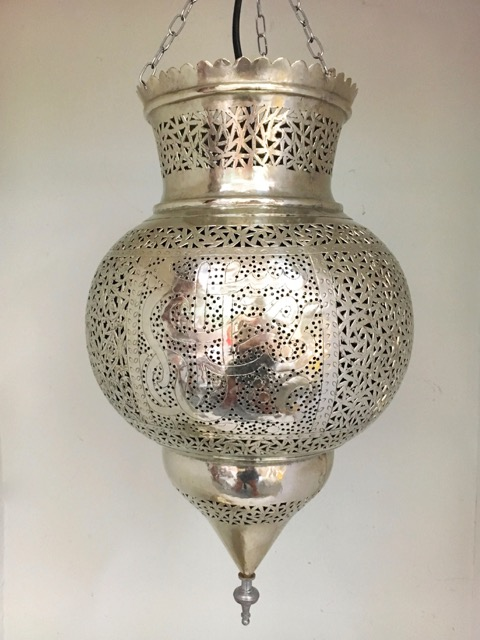 Calligraphy Lantern: German Silver Large