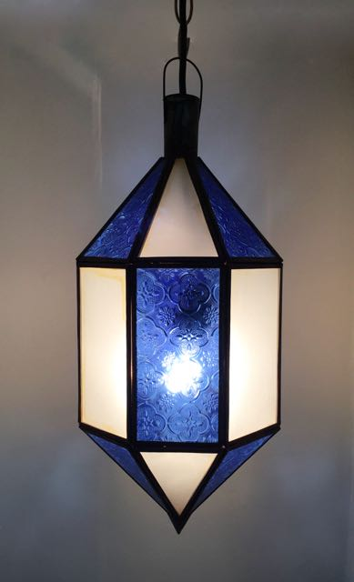 Dejamo Lantern: blue, narrow