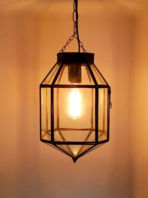 Clear moroccan lantern