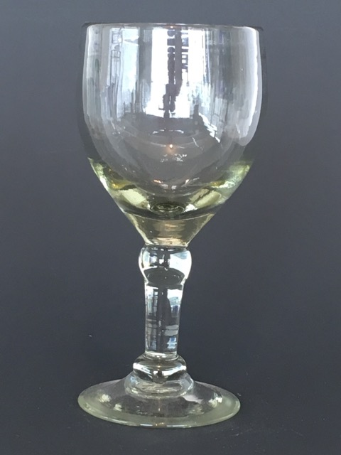 Clear Chunky Wine Glass