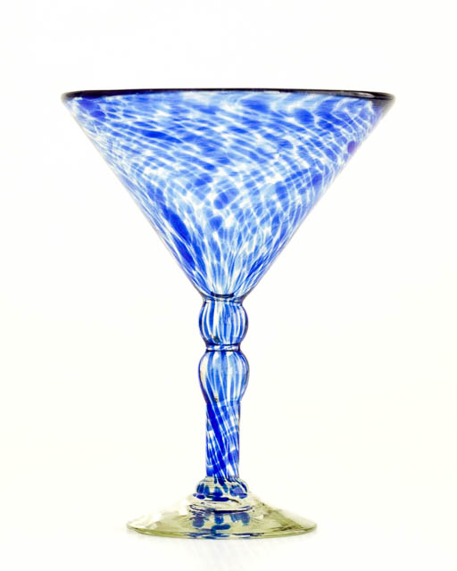 Cobalt Spotted Cocktail Glass