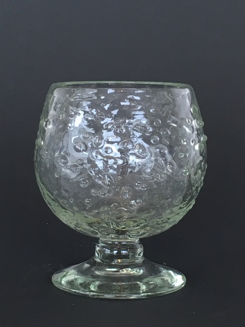 Clear Spotted Balloon Glass