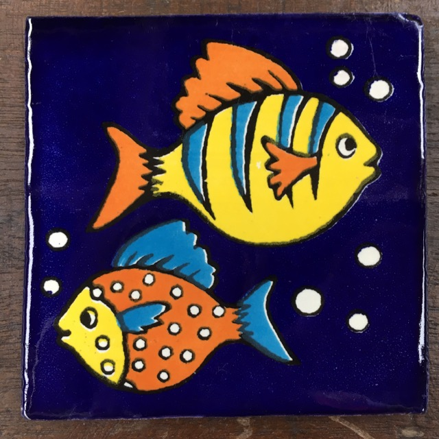 Talavera Tile: Fish 3