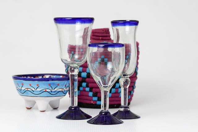 Azul Rim Wine Glass