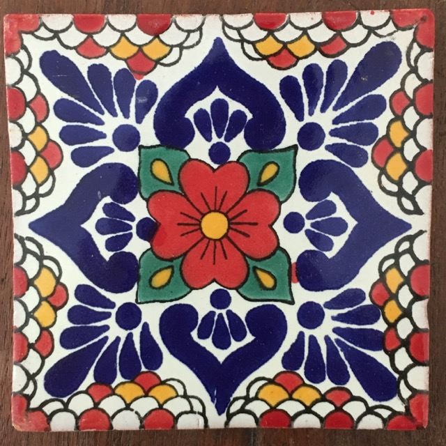 Flores Tile Red