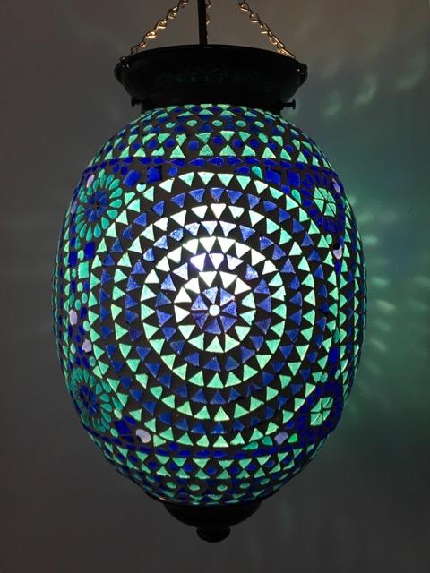Mediterranean Mosaic Lantern Furniture Lighting Decor