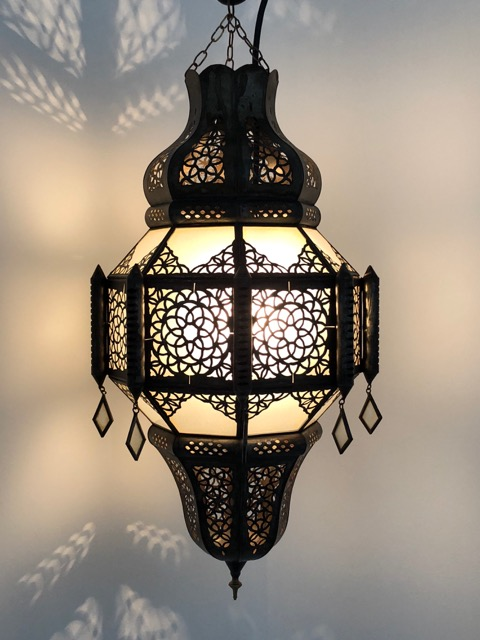 With Glass Panes And Very Detailed Filigree Work Handcrafted In Marrakech Morocco A Lovely Elegant Lantern Does Not Include Any Electrical Fittings